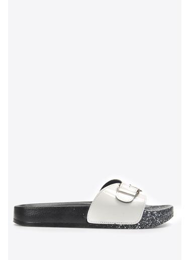 Vizon Ayakkabı Terlik Beyaz
